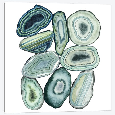 Stacked Agate II Canvas Print #POP700} by Grace Popp Art Print