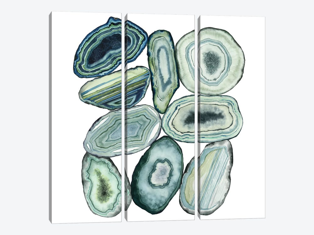 Stacked Agate II by Grace Popp 3-piece Art Print