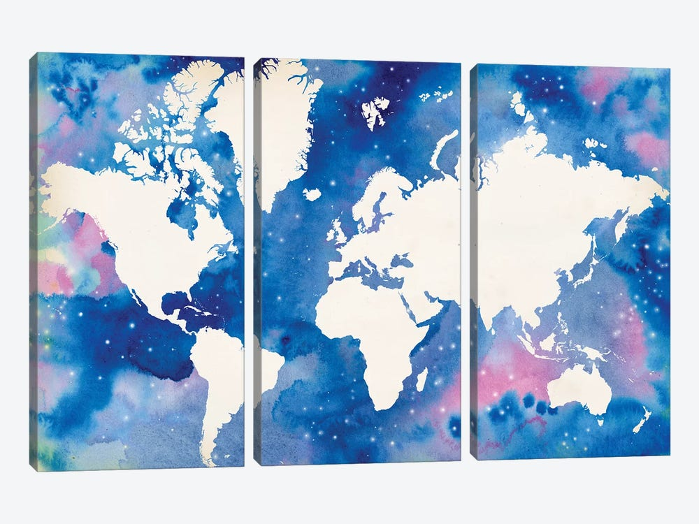 Starry World by Grace Popp 3-piece Canvas Artwork