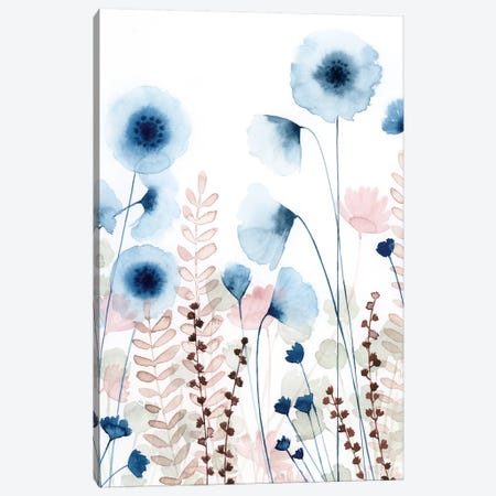 Sweet Flower Field I Canvas Print #POP704} by Grace Popp Canvas Artwork