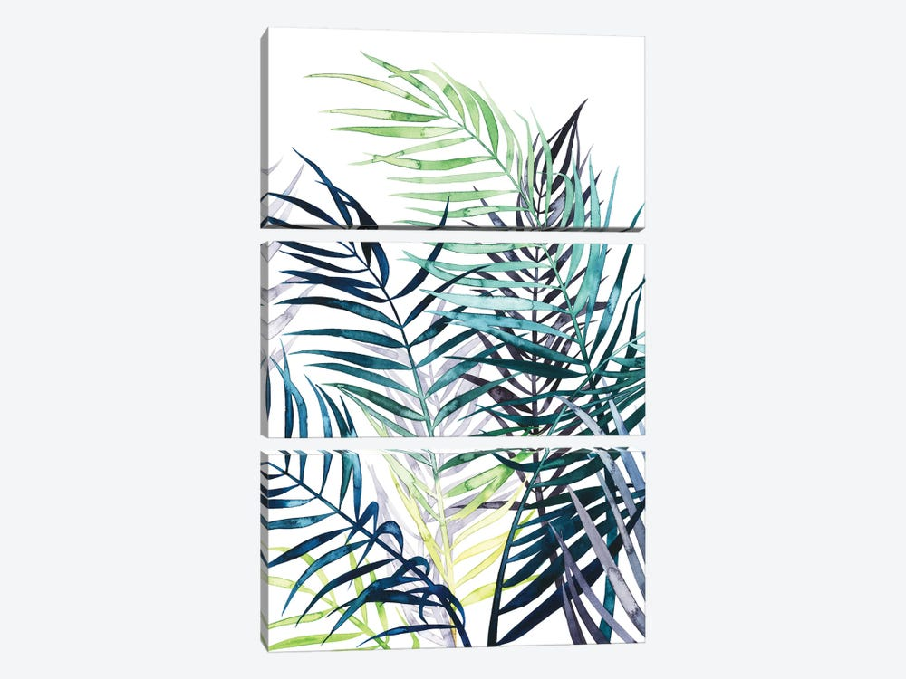 Twilight Palms I 3-piece Canvas Artwork