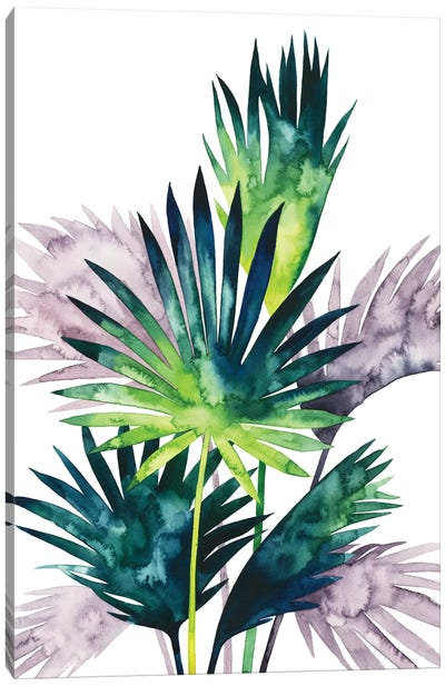 Twilight Palms III Canvas Art Print