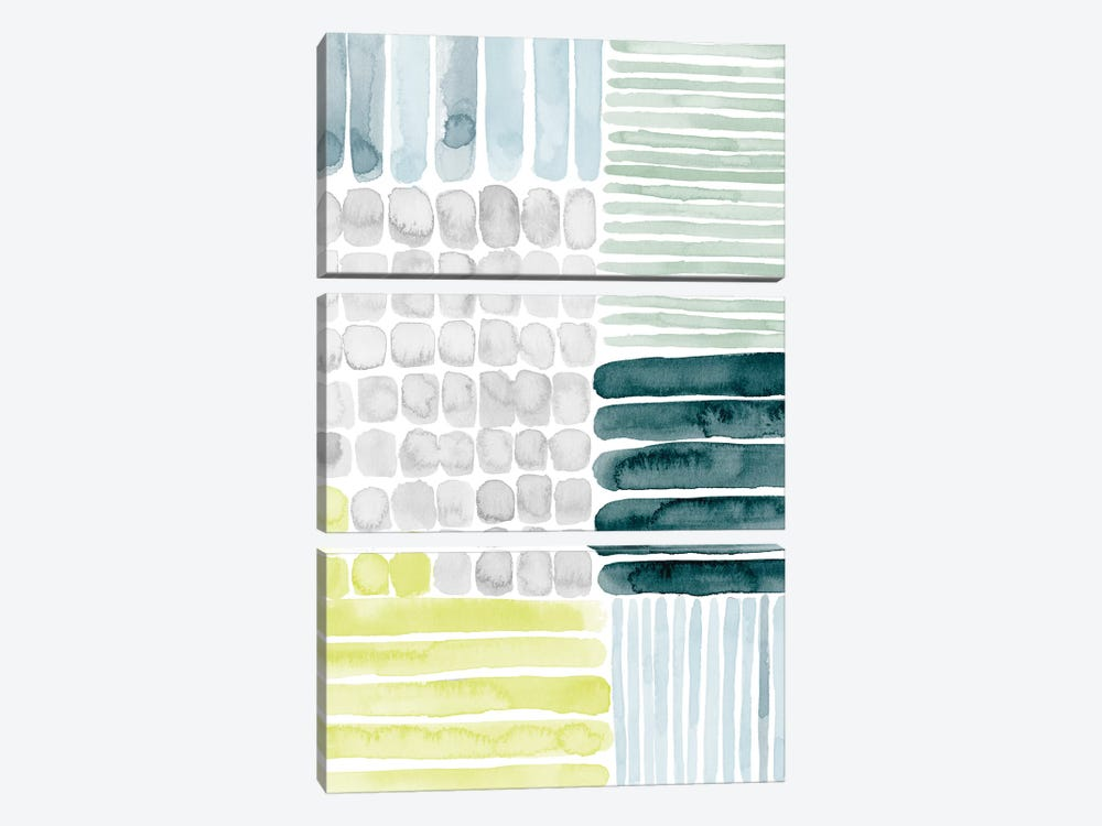 Aerial Abstract II by Grace Popp 3-piece Canvas Artwork