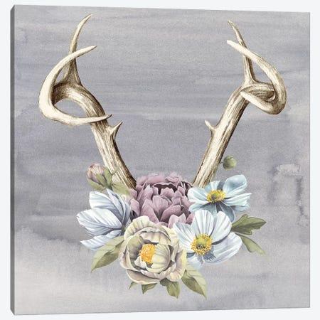 Antlers & Flowers I 3-Piece Canvas #POP730} by Grace Popp Canvas Artwork