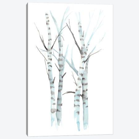 Aquarelle Birches I Canvas Print #POP731} by Grace Popp Canvas Artwork