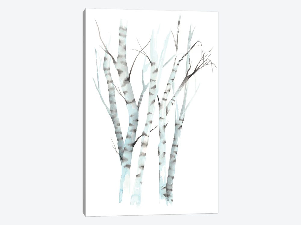 Aquarelle Birches II 1-piece Canvas Wall Art