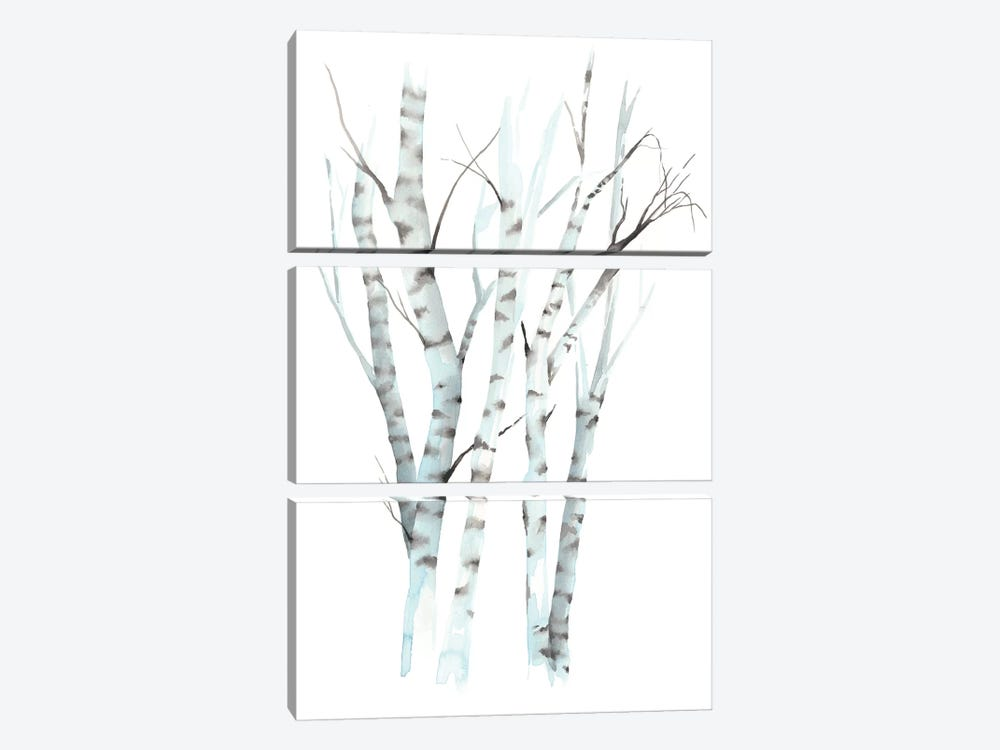 Aquarelle Birches II by Grace Popp 3-piece Canvas Artwork