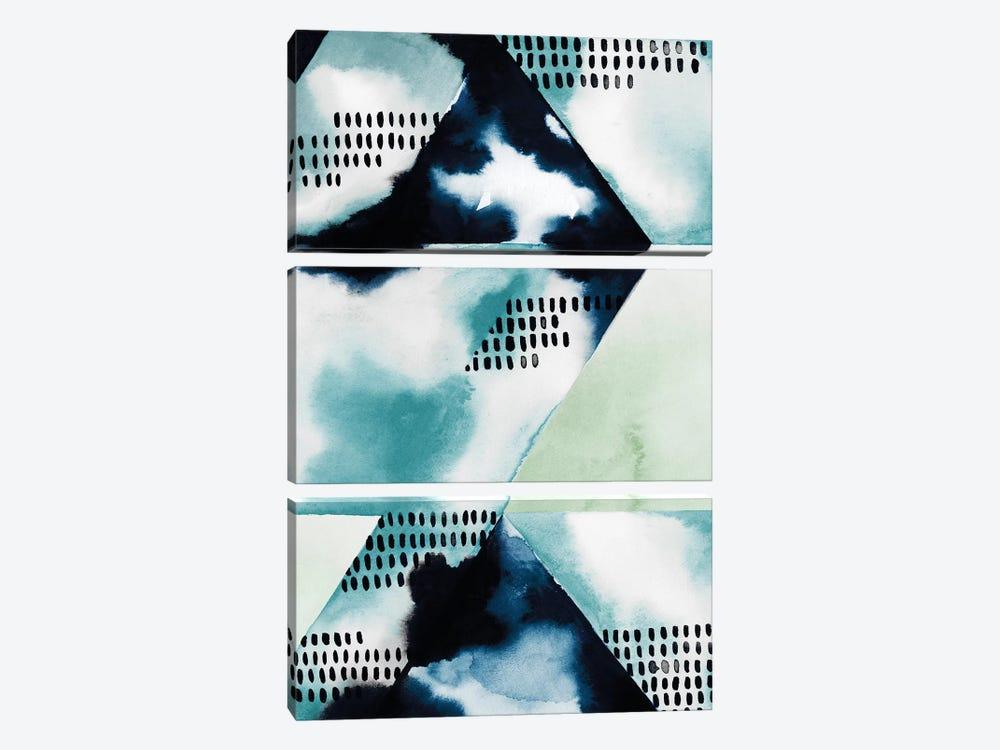 Blue Billow I by Grace Popp 3-piece Art Print