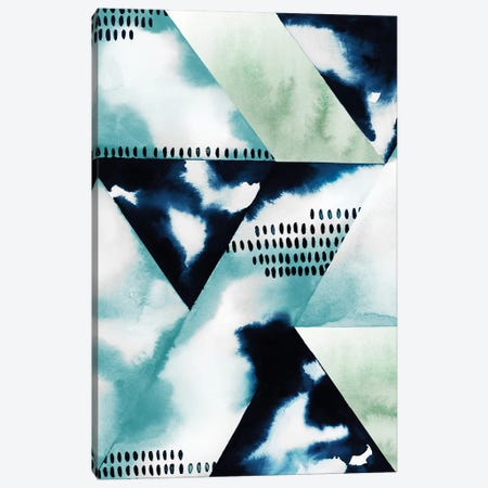 Blue Billow II 3-Piece Canvas #POP736} by Grace Popp Canvas Art Print