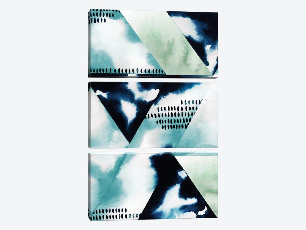Blue Billow II by Grace Popp 3-piece Canvas Artwork