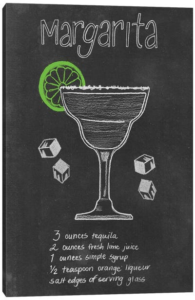 Chalkboard Cocktails Collection II Canvas Art Print