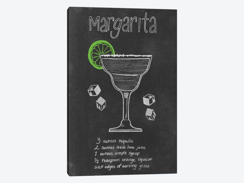 Chalkboard Cocktails Collection II by Grace Popp 1-piece Canvas Print