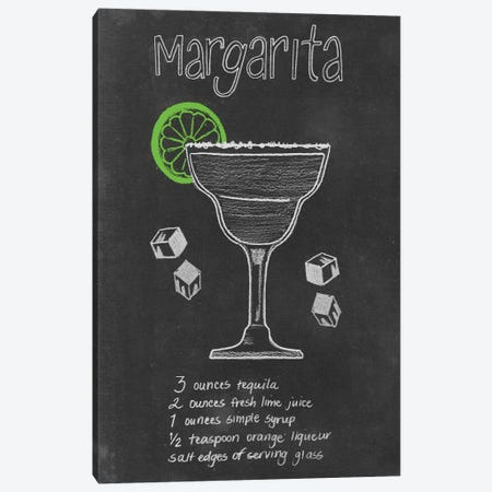 Chalkboard Cocktails Collection II 3-Piece Canvas #POP737} by Grace Popp Art Print