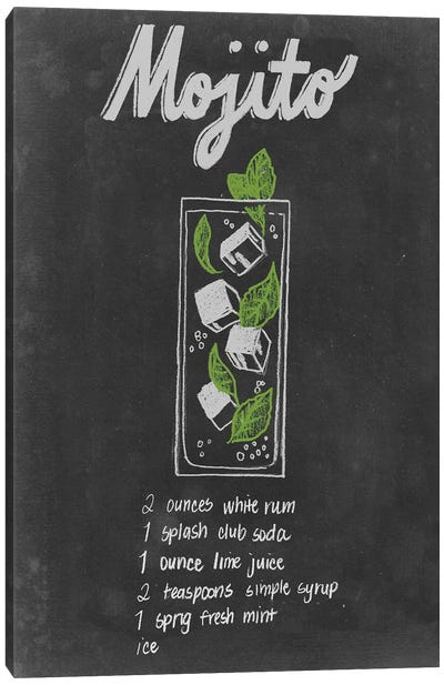 Chalkboard Cocktails Collection III Canvas Art Print