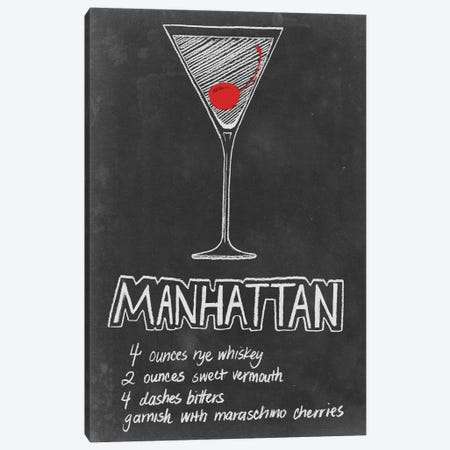 Chalkboard Cocktails Collection IV Canvas Print #POP739} by Grace Popp Canvas Art