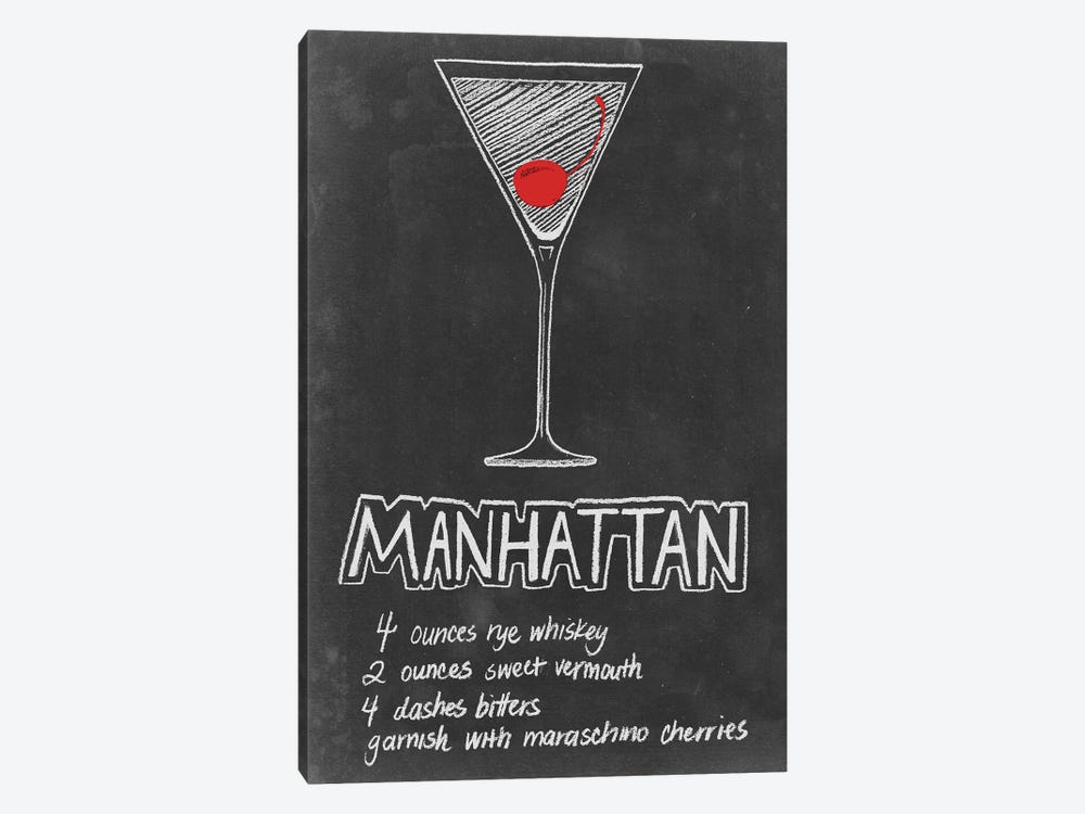 Chalkboard Cocktails Collection IV by Grace Popp 1-piece Canvas Art Print