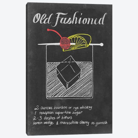 Chalkboard Cocktails Collection V Canvas Print #POP740} by Grace Popp Art Print