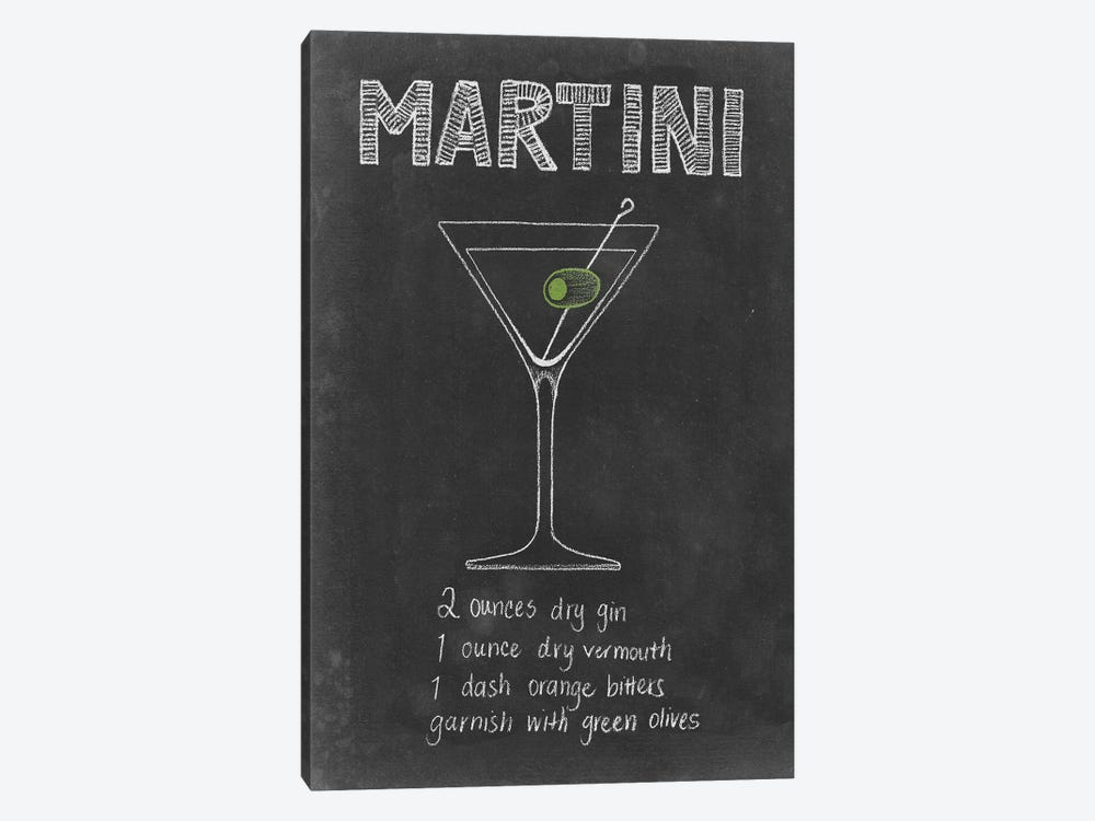 Chalkboard Cocktails Collection VI by Grace Popp 1-piece Canvas Artwork