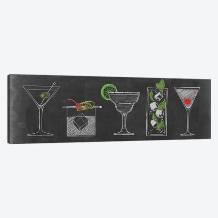 Chalkboard Cocktails Collection VII Canvas Print #POP742} by Grace Popp Canvas Print