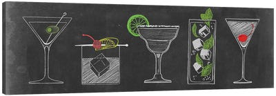 Chalkboard Cocktails Collection VII Canvas Art Print