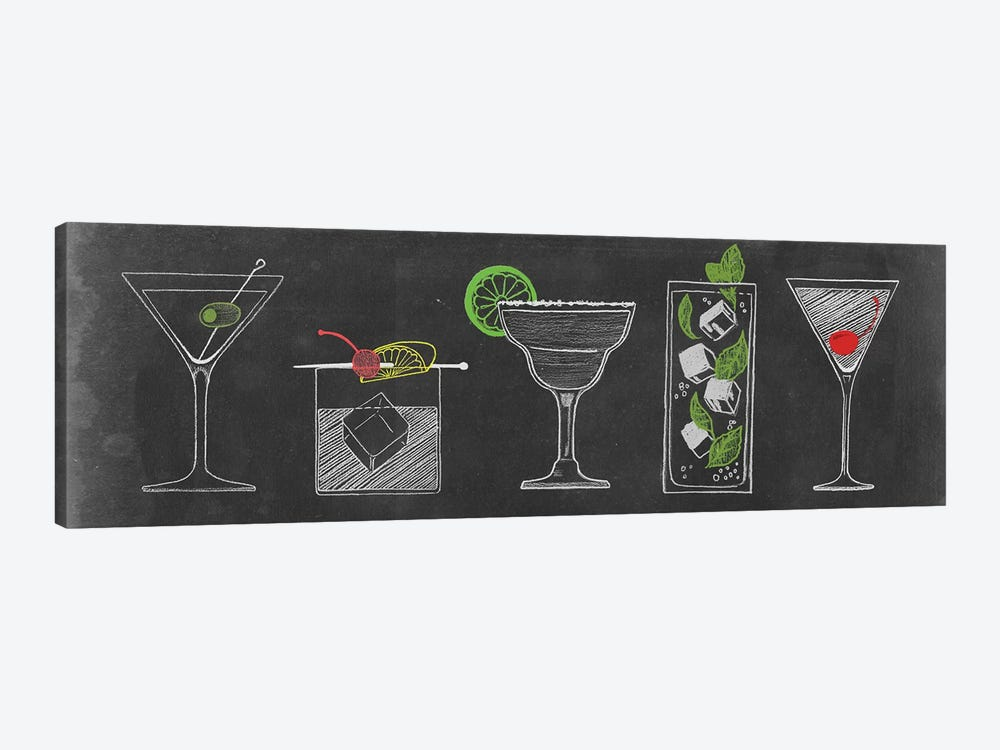 Chalkboard Cocktails Collection VII by Grace Popp 1-piece Canvas Art Print