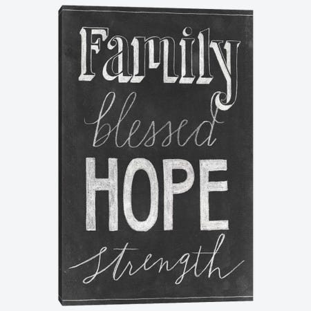 Chalkboard Faith IV 3-Piece Canvas #POP743} by Grace Popp Canvas Art Print