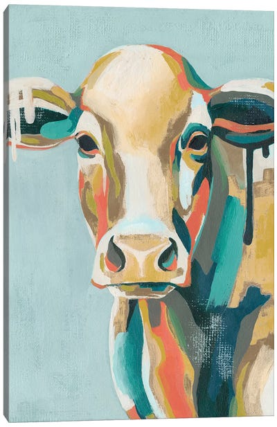Colorful Cows I Canvas Art Print