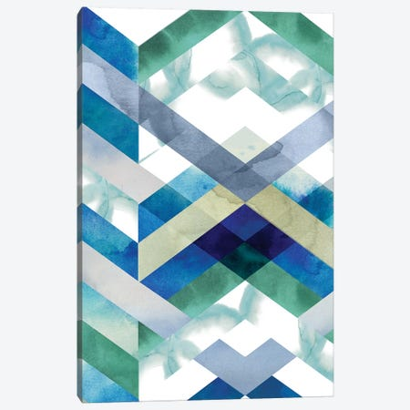 Crystal Chevron I Canvas Print #POP750} by Grace Popp Canvas Artwork