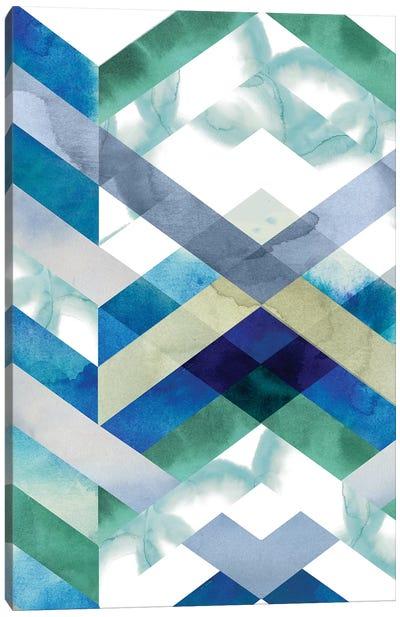 Crystal Chevron I Canvas Art Print
