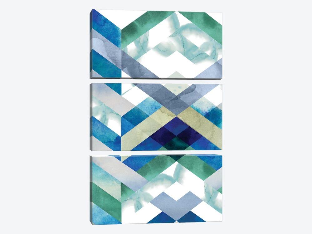 Crystal Chevron I by Grace Popp 3-piece Canvas Artwork