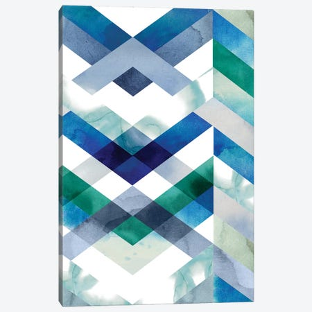 Crystal Chevron II Canvas Print #POP751} by Grace Popp Canvas Artwork