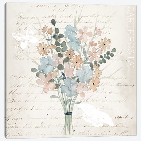 Fleurs Pastel I Canvas Print #POP757} by Grace Popp Canvas Print