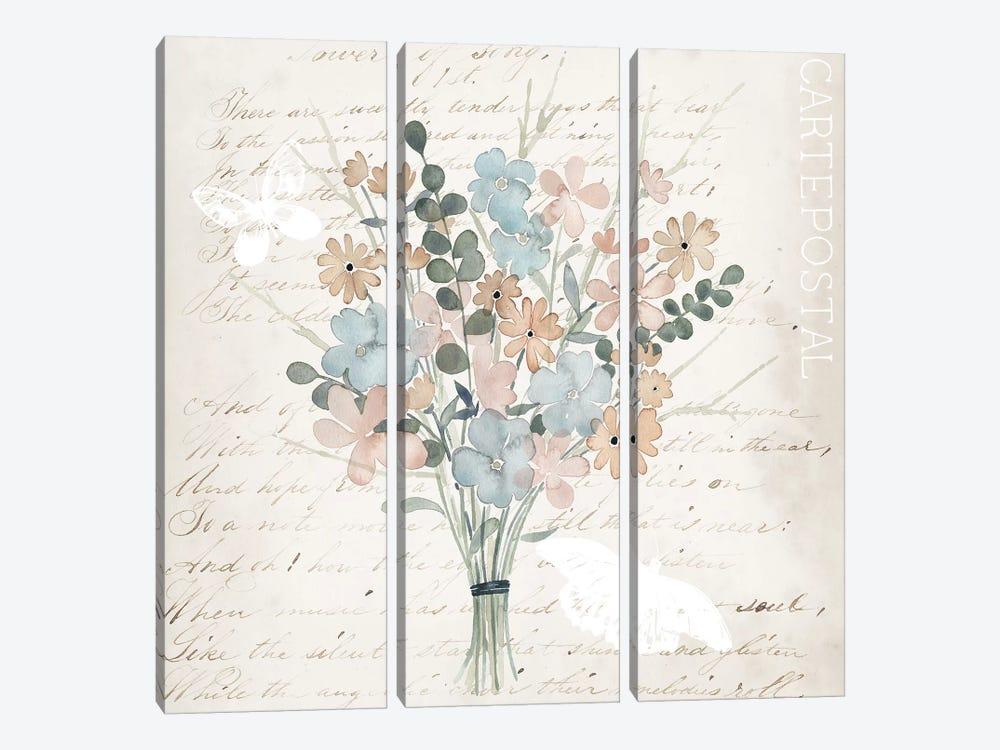 Fleurs Pastel I by Grace Popp 3-piece Art Print