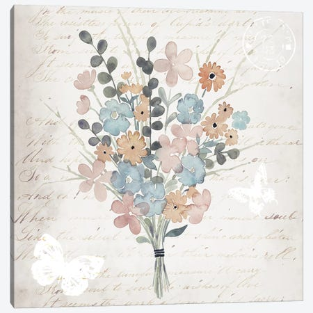Fleurs Pastel II Canvas Print #POP758} by Grace Popp Canvas Artwork