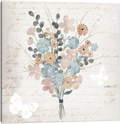 Fleurs Pastel II Canvas Art Print