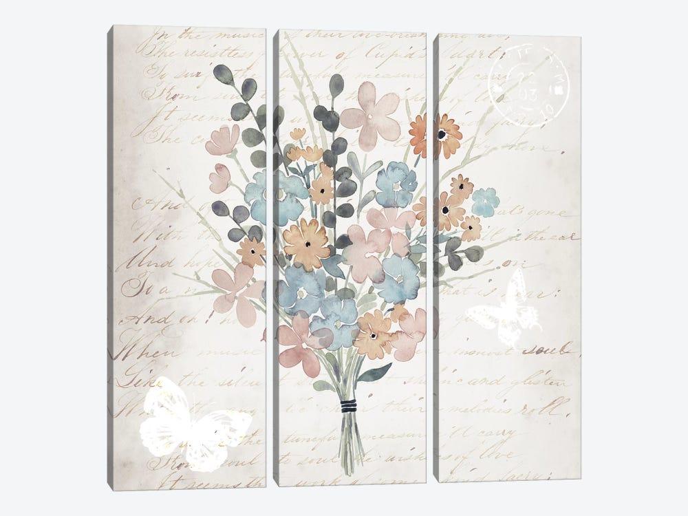 Fleurs Pastel II by Grace Popp 3-piece Canvas Art