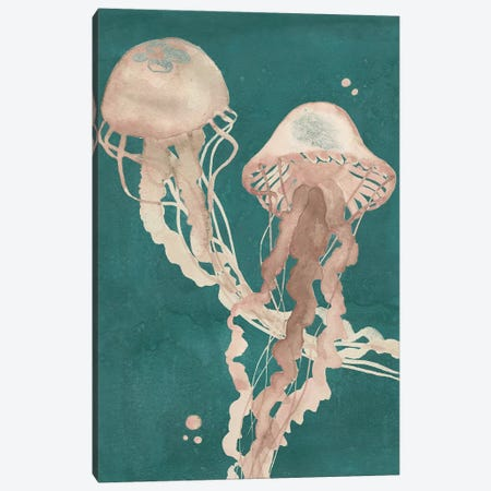 Jellyfish Dance I 3-Piece Canvas #POP769} by Grace Popp Art Print