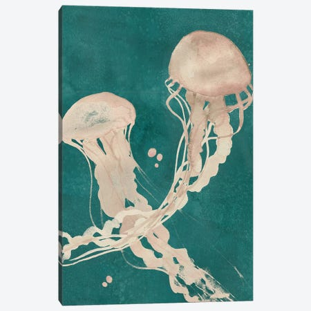 Jellyfish Dance II Canvas Print #POP770} by Grace Popp Canvas Art