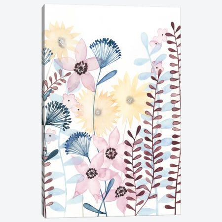 Pastel Posies I Canvas Print #POP785} by Grace Popp Canvas Art