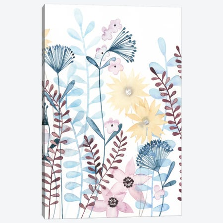 Pastel Posies II Canvas Print #POP786} by Grace Popp Canvas Wall Art