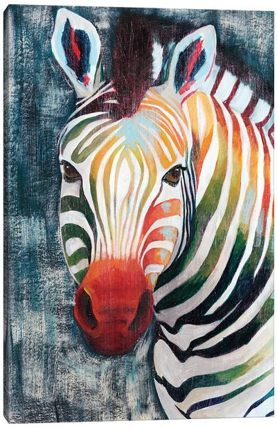 Prism Zebra II Canvas Art Print