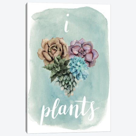 Life Is Succulent II Canvas Print #POP79} by Grace Popp Canvas Wall Art