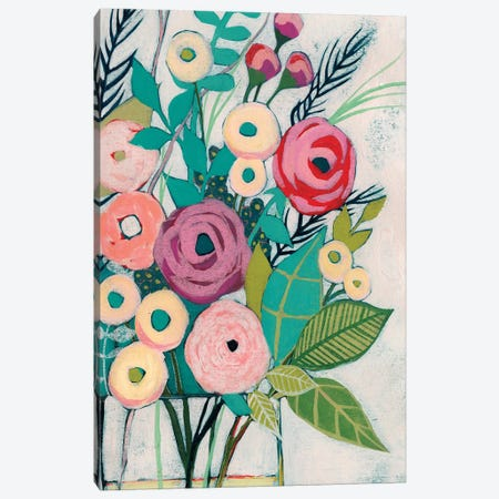Soft Spring Bouquet I Canvas Print #POP803} by Grace Popp Canvas Wall Art