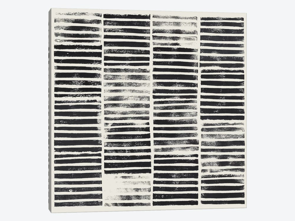 Stripe Block Prints I by Grace Popp 1-piece Canvas Artwork