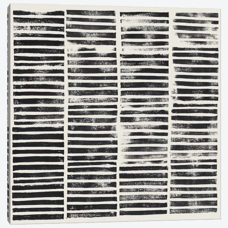 Stripe Block Prints II Canvas Print #POP806} by Grace Popp Canvas Art Print