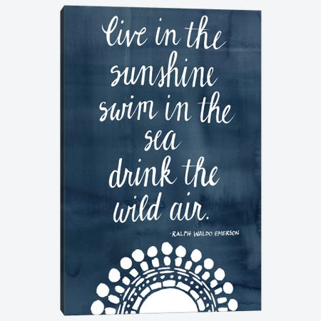 Sun Quote I Canvas Print #POP809} by Grace Popp Canvas Artwork