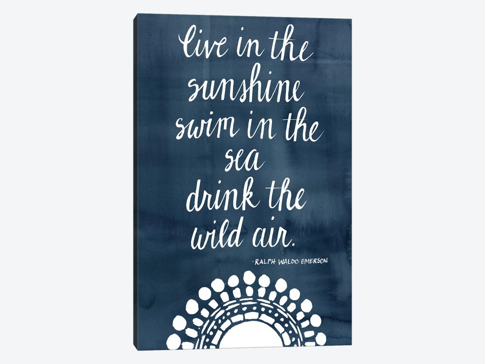 Sun Quote I by Grace Popp 1-piece Canvas Art