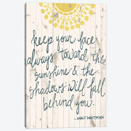 Sun Quote III Canvas Print #POP810} by Grace Popp Art Print
