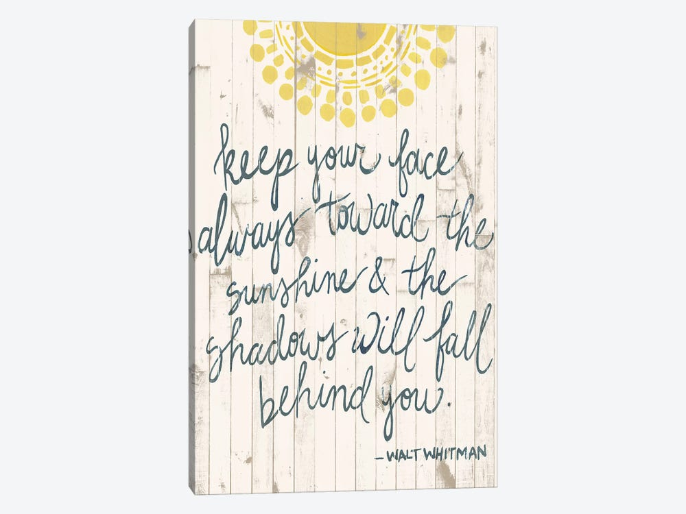 Sun Quote III by Grace Popp 1-piece Canvas Wall Art