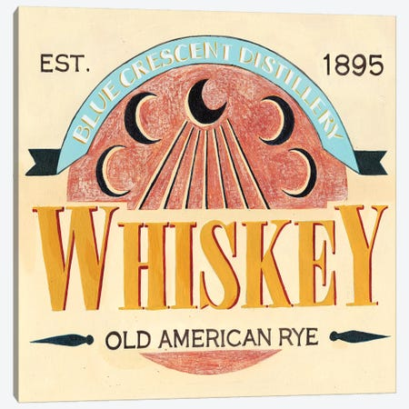 Vintage Liquor Label III Canvas Print #POP815} by Grace Popp Canvas Art